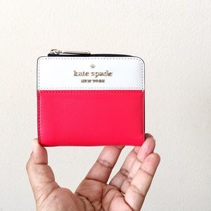 Kate Spade Staci Colorblk Small Zip Bifold Wallet
